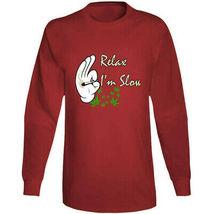 Relax I'm  Slow 420 Canna Long Sleeve T Shirt image 9