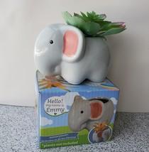 "Emmy Elephant Planter - Ceramic Animal Pot for Succulents 4"" image 2"