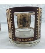 VTG Roaring Twenties Bar Rock Whiskey Glasses Silent Screen Film Stars S... - $18.46