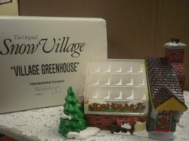 DEPT 56 54020 VILLAGE GREENHOUSE SNOW VILLAGE EXCELLENT D10 - $29.35