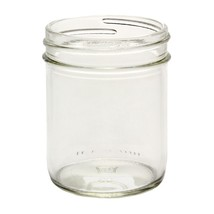 Case of 12 - 8oz Straight Sided Glass Canning Jars Silver Plastisol Lid ... - $12.99