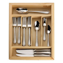 Mikasa Sinclair 65-Piece Stainless Steel Flatware Set -  Open Box - $84.15