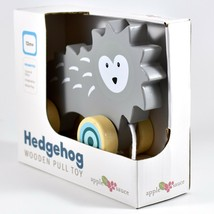 Applesauce Hedgehog Baby Wooden Pull Toy for Toddlers Children Ages 12+ Month image 2