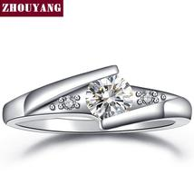 Classical Silver Color Cubic Zirconia Fashion Wedding & Engagement Ring ... - $45.00