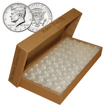 25 Direct Fit Airtight 30.6mm Coin Holders Capsules For JFK HALF DOLLAR ... - $9.85