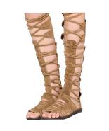 FREE PEOPLE Womens Knee High Lace Up Sun Seeker Tall Honey Sandal Size 5... - $62.34