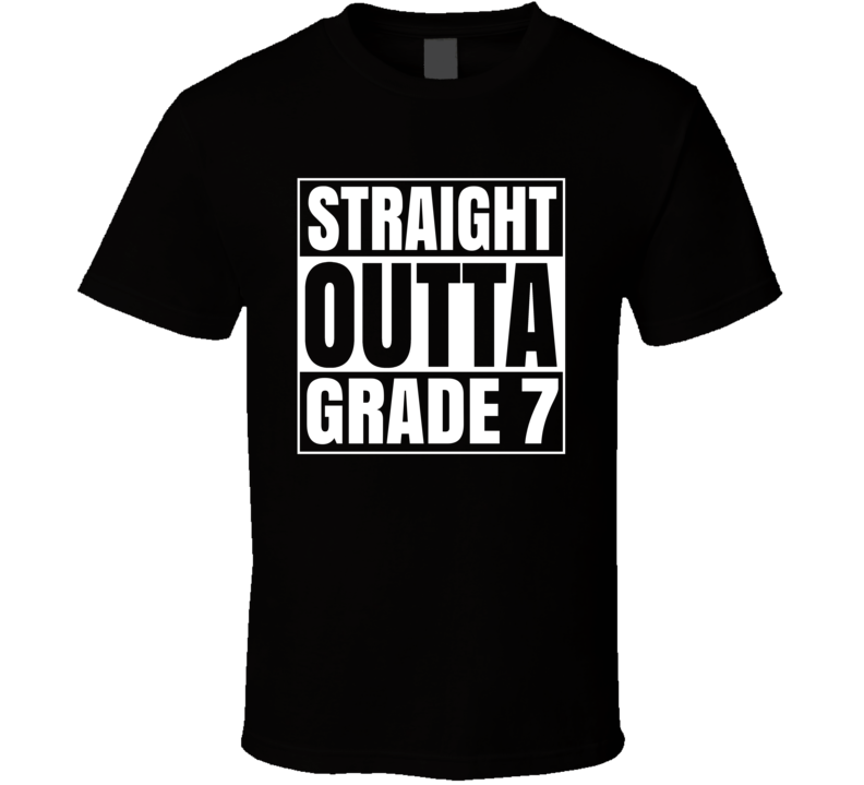 Primary image for Straight Outta Grade 7 School Compton Style T Shirt