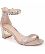 Badgley Mischka Jewel Katerina Embellished Ankle Strap Heels Gold Womens... - $39.60