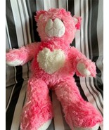 """Build a Bear Plush Pink Bear Toy 18"""" Stuffed Animal Soft Magnetic Paws H... - $23.08"""