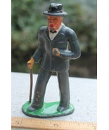 Vintage Barclay #619 Well Dressed Man With Cane Miniature Figurine Lead ... - $10.00