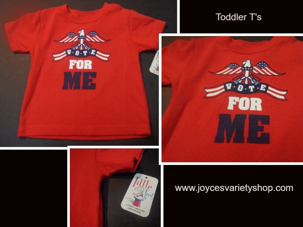 Primary image for Infant T-shirt NWT VOTE FOR ME SZ 6 Months Patriotic
