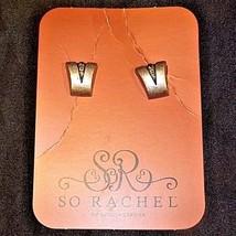 So Rachel by Longaberger Studded EarringsAA18-1273-B Vintage #23393 image 2