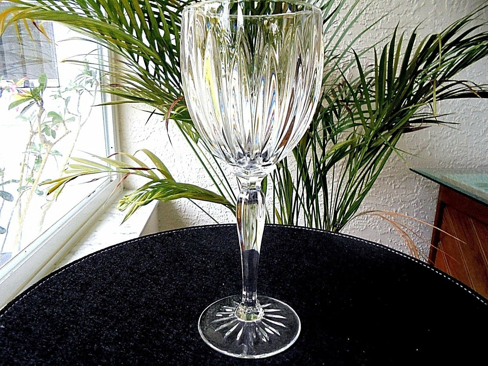Primary image for Set of 4 Cris D'Arques Classic Pattern Clear Crystal WINE Goblets