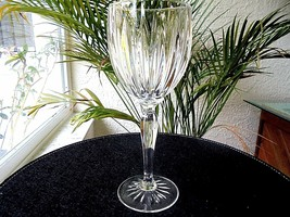 Set of 4 Cris D'Arques Classic Pattern Clear Crystal WINE Goblets - $34.65