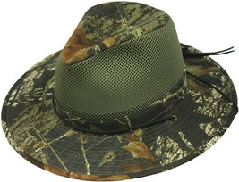 Henschel Poly Cotton Breezer Mesh Crown Mossy Oak Timber Ad Max Made In USA - $52.00