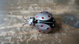 """Vintage Jewelry Beau Sterling Silver Ladybug Brooch Pin Insect 1.25"""" - $29.69"""