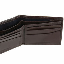 Tommy Hilfiger Men's Double Bill Fold Wallet & KeyFob Box Set Brown 41TL25X024 image 10