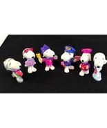Vintage Lot 6 Peanuts doll Snoopy San valentine United Feature Syndicate  - $23.11