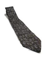 "Christian Dior Dark Green Paisley Art Pattern Silk Neck Tie 57"" Long 3.5... - $10.88"