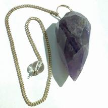 Amethyst Rough Pendulum Point Reiki Healing Point Pendulum  - $8.99