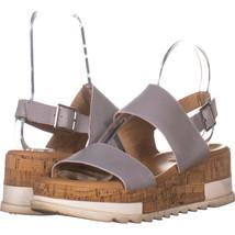 Steve Madden Brenda Platform Slingback Sandals, Light Grey 817, Light Gr... - $31.67
