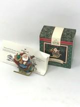 VTG Hallmark Keepsake Santa Claus Santa His Reindeer CHRISTMAS ORNAMENT ... - $9.85