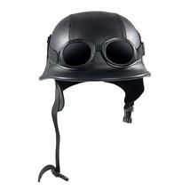 Vintage Motorcycle Helmets Retro Half Shell Goggle Helmet 56-60cm Unisex... - $70.11