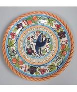 """Villa Paradiso Dario Farrucci Designs round 8.5"""" Plate blue Bird Collect... - $24.71"""