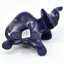 Crafts Caravan Hand Carved Soapstone Purple Trunk Up Elephant Figure Made Kenya image 6