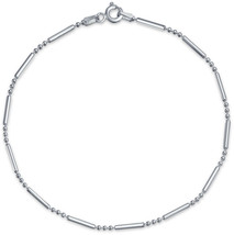 Simple Plain Bar and Ball Link Chain Anklet Charm Hotwife Ankle Bracelet... - $34.75