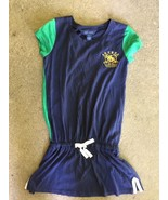 Ralph Lauren Girls 6 Dress Tunic Racing Stables Logo 100% Cotton Polo Bl... - $19.79