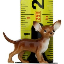 Hagen Renaker Dog Chihuahua Small Brown and White Ceramic Figurine image 2