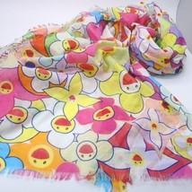 LOUIS VUITTON LV Takashi Murakami Cosmic blossom Pareo Stole Scarf Cotton Rare ! - $1,693.60