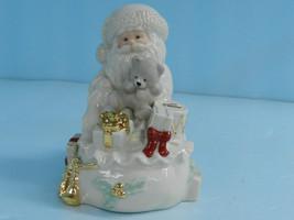 Lenox SANTA Figurine W Teddy & Bag of Gifts & G... - $54.45