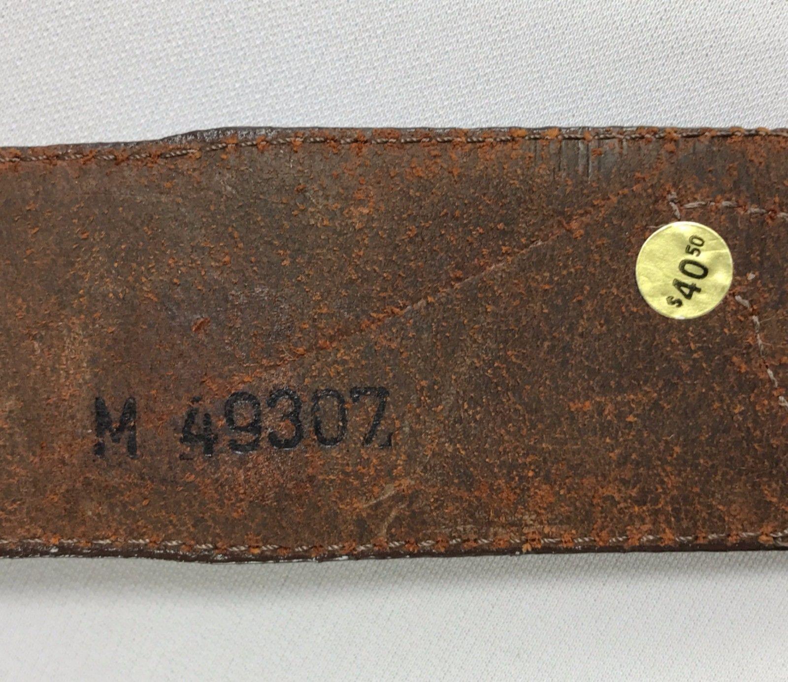 Women's Brown Leather Western Belt Size M