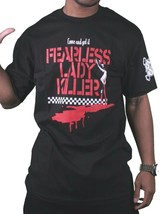 In4mation Hawaii Nero da Uomo Come E Get It senza Paura Lady Killer T-Shirt Nwt