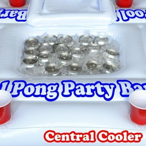 Floating Beer Pong Table: Pool Party Barge Cooler White 6 Ft