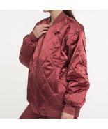 Nike Air Satin Jacket Women's Sz XS Orange/Black Loose Fit BV2877-661 Ne... - $106.82