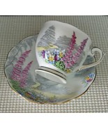 LOVERS LANE Queen Anne TEACUP and SAUCER Bone China Made in England EUC - $18.42