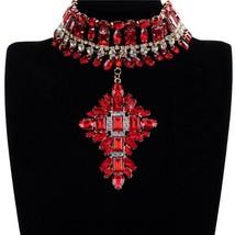 Fashion Jewelry Acrylic Crystal Alloy Choker Necklace - $27.22