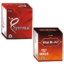 Best Natural Remedies For low Sperm Count In Men 30 Spermac + 30 Vital M-40 - $62.36