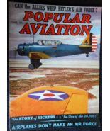 Jun 1939- Popular Aviation-Can Allies Whip Hitler's Air Force? -Story of... - $12.85