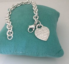 Tiffany & Co Sterling Silver New York 5th Fifth Ave Notes Heart Charm Br... - $225.00