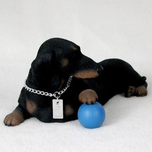 DACHSHUND (BLACK) MY  DOG  Figurine Statue Pet Lovers Gift Resin Hand Pa... - $26.50