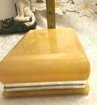 Vintage Himark Giftware Hinged Floral Design Genuine Alabaster Trinket Box Italy image 5