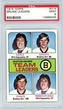 1975 Topps Bruins Leaders Bobby Orr Phil Esposito #314 PSA 9 P890 - $62.81