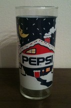 Vintage Pepsi Promo Glass Winter Holiday Christmas Snow Covered Cabin Glass - $5.53