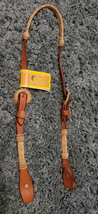 Rawhide Bosal Hanger with leather NEW horse size image 1