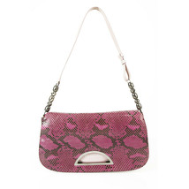 Christian Dior Malice Purple & Black Python Snakeskin Shoulder Bag Flap Bag - $682.11