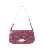 Christian Dior Malice Purple & Black Python Snakeskin Shoulder Bag Flap Bag - $682.11
